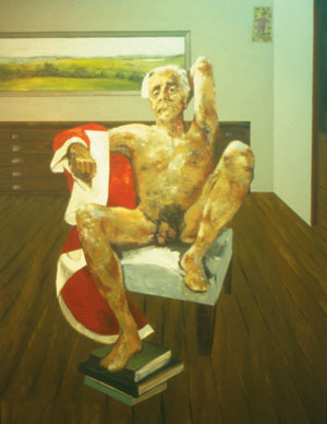 8 The naked truth: On receiving the Australia Council's Visual Arts & Craft Emeritus Medal for 2004: BERNARD SMITH   Carmel O'Connor,  Portrait of Emeritus Professor Bernard Smith , 2002, acrylic on linen. Exhibited in the Archibald Prize, Art Gallery of New South Wales, 2002. Courtesy of the artist