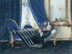 10 Emma Minnie Boyd: The invisible artist at the Mornington Peninsula Regional Gallery: BRENDA NIALL    Emma Minnie Boyd,  An afternoon nap , 1874, watercolour on paper. Private collection
