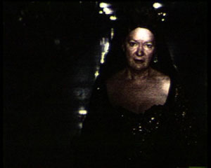 1 Video magic at the Performance Space: ADAM GECZY,  Sydney     John Gillies,  The Mary Stuart Tapes , 2000, still from singe channel DVD projection. Performer Clare Grant. Courtesy of the artist and Performance Space, Sydney