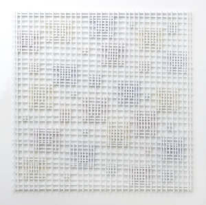 7 Hilarie Mais: A geometary of Emotion: Michael Desmond,  Sydney    Hilarie Mais,  Cluster Ghost , 2016, Synthetic polymer paint on wood, 182 x 182 x 4.5cm; image courtesy and copyright the artist; photo: Jessica Maurer