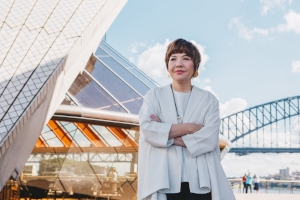 2 Inhabiting complex currents and contexts: mami kataoka in conversation with julie ewington   Mami Kataoka, Sydney Opera House, April 2017; image courtesy the Biennale of Sydney; photo: Catherine McElhone