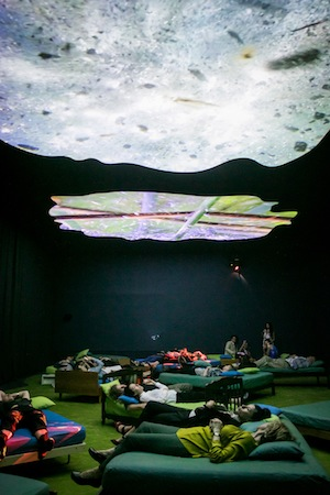 4 Watch the Inside of the heart of the other: notes on Pipilotti rist: Natasha Bullock,  Sydney    Pipilotti Rist,  4th Floor to Mildness , 2016, installation view, 'Pipilotti Rist: Sip my Ocean', Museum of Contemporary Art Australia, Sydney, 2017; image courtesy the artist, Hauser & Wirth and Luhring Augustine; © the artist; photo: Ken Leanfore