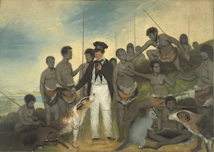 7 Benjamin Duterrau A grand contradiction: Greg Lehman,  Hobart    Benjamin Duterrau,  The Conciliation , 1840, oil on canvas, 121 x 170.5cm; Tasmanian Museum and Art Gallery, Hobart, purchased with assistance from the Friends of the Museum Fund and the Murray Fund, 1945