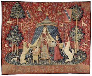 6 The curators, the diplomat and 'the lady and the unicorn: joanna mendelssohn,  sydney     Mon Seul Désir , c. 1500, from 'The Lady and the Unicorn' series, wool and silk, 377 x 473cm, Musée de Cluny – Musée national du Moyen Âge, Paris; photo and ©: RMN-GP/M. Urtado