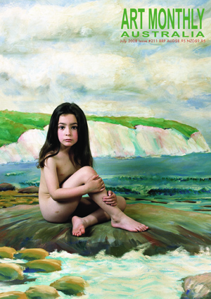 9 polixeni papapetrou 1960-2018: natalie king    art monthly's  july 2008 cover featuring polixeni papapetrou,  olympia as lewis carroll's beatrice hatch before white cliffs,  2003, detail; type-C print