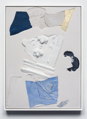 2 NOTES FROM THE FIELD: CHLOÉ WOLIFSON   Mason Kimber,  Ivory/slide , 2018, acrylic, resin, synthetic polymer, gypsum and glass fibre on plywood, 65 x 44.7 x 4.5cm (framed); courtesy the artist, COMA Gallery, Sydney, and Sophie Gannon Gallery, Melbourne