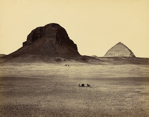 7 still looking: peter mcleavey and the last photograph: kyla mcfarlane   francis frith,  the pyramids of dahshoor, from the east,  1858, albumem photograph from mammoth-plate glass negative, 35.6 x 45.7cm