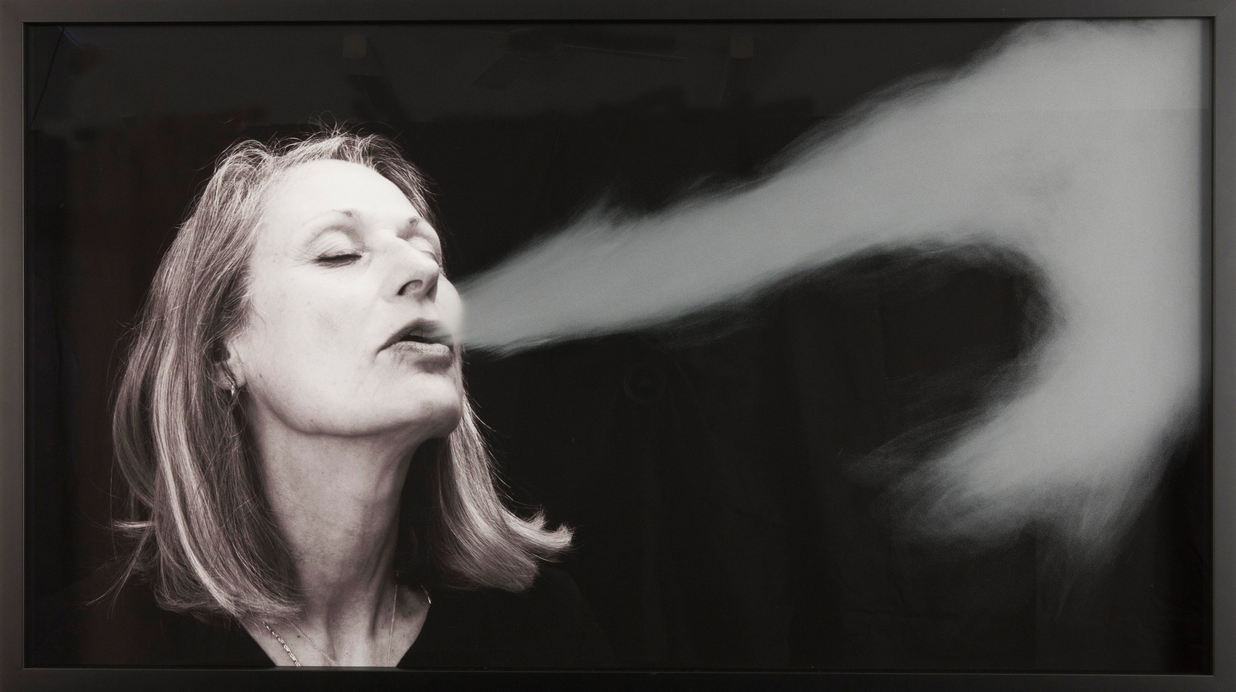 Julie Rrap,  Breath stream , 2018, pigment inkjet print, hand-ground glass, 66 x 116cm; image courtesy the artist, Arc One Gallery, Melbourne, and Roslyn Oxley9 Gallery, Sydney