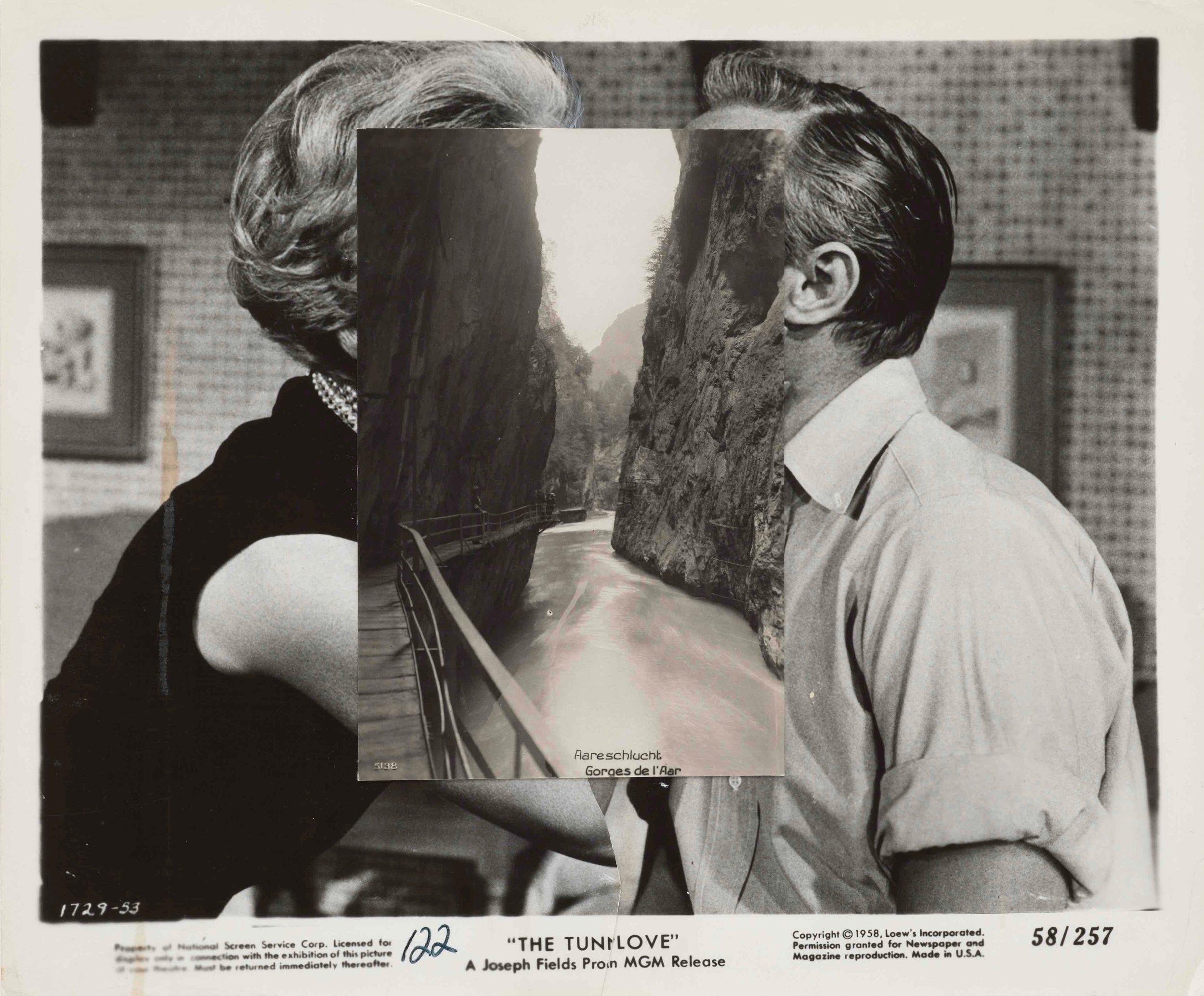 John Stezaker,  Pair XXVII , 2015, collage, 20.3 x 24.2cm; image courtesy the artist and The Approach, London