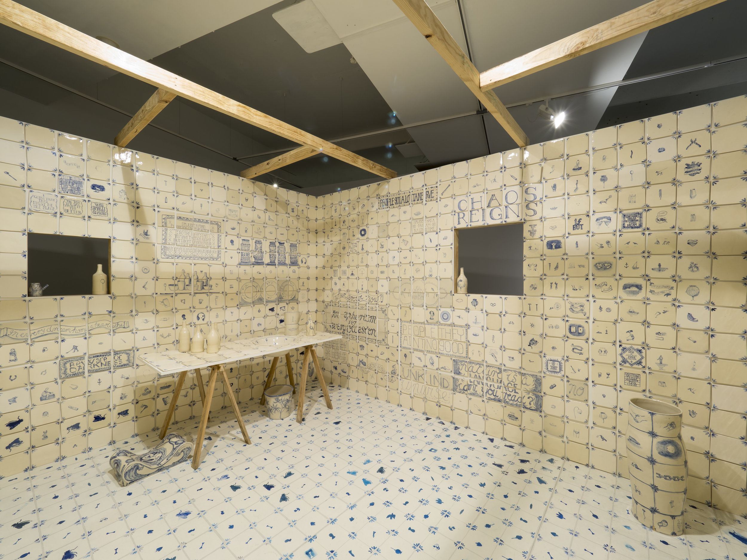 Gerry Wedd,  SONGS FOR A ROOM , 2018, installation views, ACE Open, Adelaide, 2018; glazed ceramic, dimensions variable; images courtesy the artist; photos: Sam Roberts Photography
