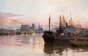 7 Impressions of AustraliA: MICHAEL ROSENTHAL   Frederick McCubbin,  The city's toil,  1887, oil on canvas. Famdal Collection, Sydney