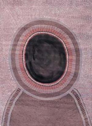 5 Kumanjayi Cherel c. 1920 – 2009: JEREMY ECCLES   Kumanjayi Cherel,  Thirrwi (Hill Kangaroo) , 2000, polymer paint on paper. Image courtesy Mangkaja Arts resource Agency