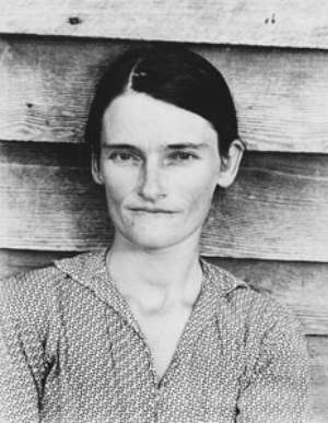 3 Ricky Maynard: Portrait of a Distant Land: LARISSA BEHRENDT   Walker Evans,  Allie Mae Burroughs, Wife of a Cotton Sharecropper,  1936, gelatin silver photograph, 34.3 x 27cm. South Australian Government Grant 1979, Collection: Art Gallery of South Australia, Adelaide