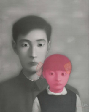 2 China Project: GOMA: SOPHIE McINTYRE   Zhang Xiaogang,  Father and Daughter , 1999, oil on canvas, 100 x 80cm. Collection: Zhang Xiaogang