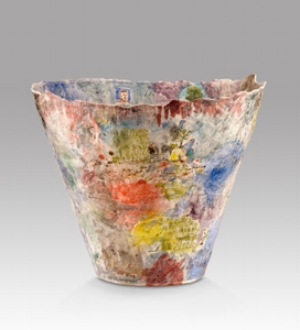 5 Bravura: 21st Century Australian Craft: MARGOT OSBORNE   Stephen Benwell,  Large flared vase , 2008, earthenware, 40 x 48 x 48.5cm. Maude Vizard-Wholohan Art Purchase Award 2009, Art Gallery of South Australia, Adelaide. Image courtesy and © the artist, and Niagara Galleries, Melbourne