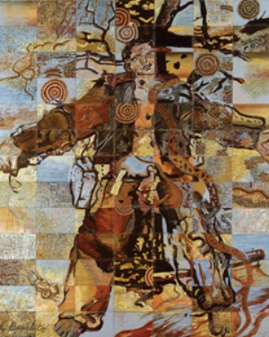 3 9 shots 5 stories: Imants Tillers and Indigenous difference: IAN MCLEAN   Imants Tillers, The nine shots , 1985, acrylic and oilstick on 91 canvas boards; overall 330 x 266cm. National Gallery of Australia, Canberra. Gift of the artist, 2008