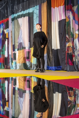 8 energising emotion: sally smart and the ballets russes: caren florance,  canberra    Sally Smart in her installation of 'NGA Play', National Gallery of Australia (NGA), Canberra, November 2018; image courtesy NGA, Canberra