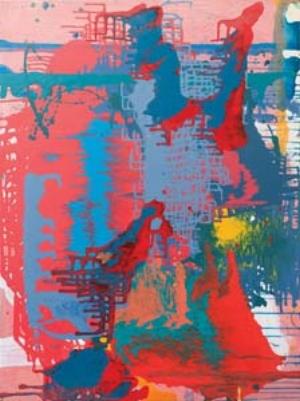10 This Way Up: romancing the paint: YOLANDE NORRIS   Dan Zhu,  Figure 2 , 2010, acrylic on board, 122 x 91cm