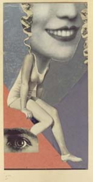 3 The Mad Square: Modernity in German Art, 1910-1937: ROGER BENJAMIN   Hannah Hoch,  Made for a party , 1936, collage, 36 x 19.8cm. INSTITUTE FOR FOREIGN CULTURAL RELATIONS, STUTTGART. © HANNAH HOCH/VG BILD-KUNST, BONN