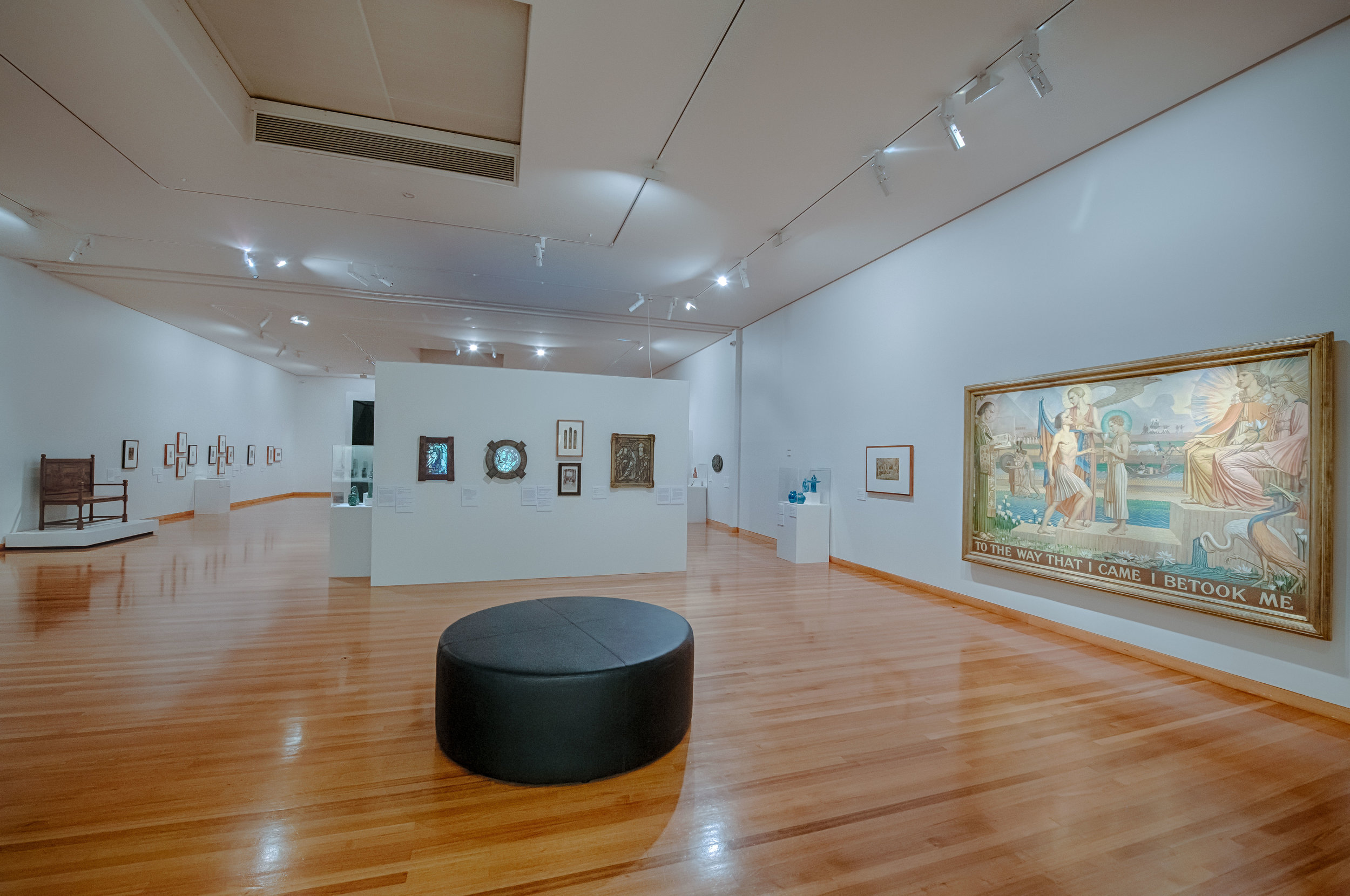 Daughters of the Sun: Christian Waller and Klytie Pate , exhibition installation view, Bendigo Art Gallery, 2018–19; image courtesy Bendigo Art Gallery