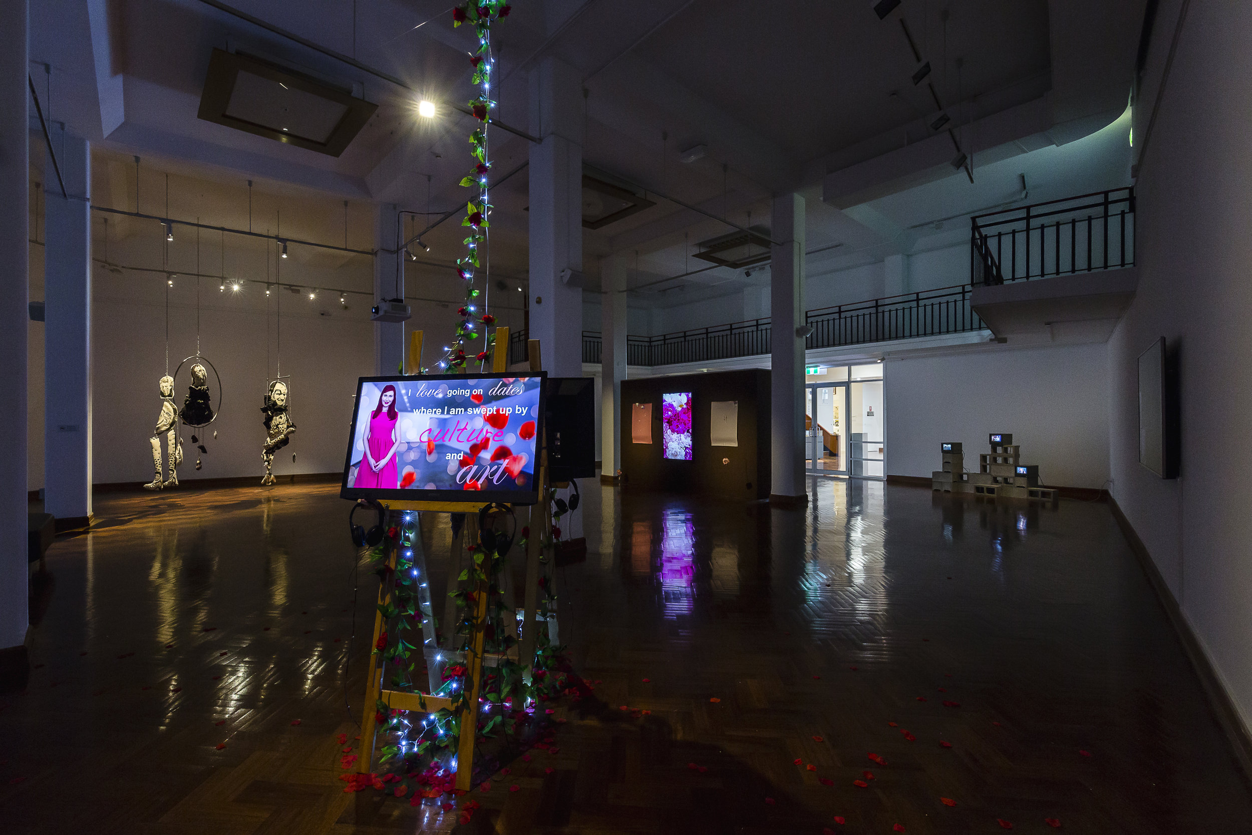 The TV Show , exhibition installation view, Wollongong Art Gallery, 2019; photo: Document Photography