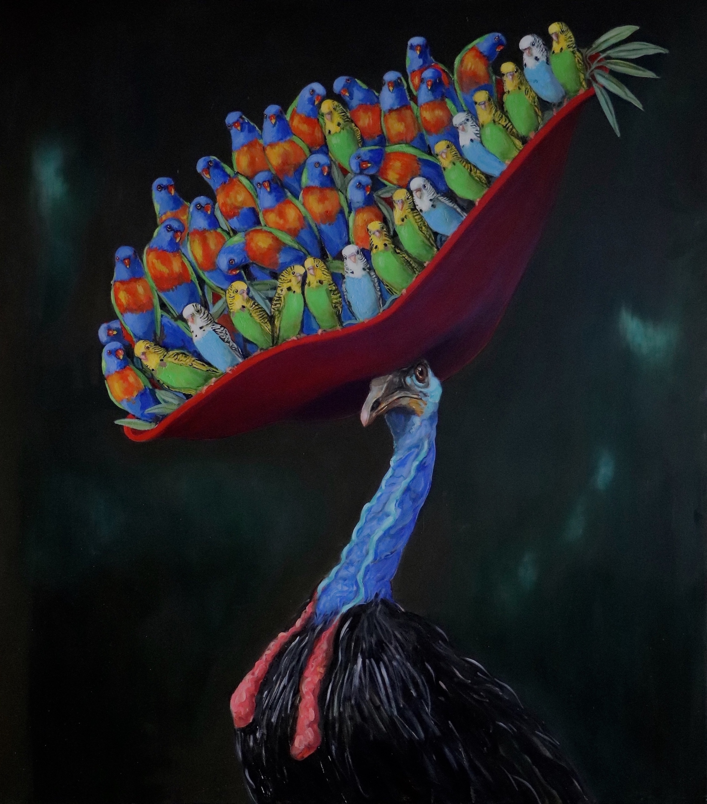 Joanna Braithwaite,  Bold and the Beautiful,  2019, oil on canvas, 137 x 121cm; courtesy the artist and Martin Browne Contemporary, Sydney