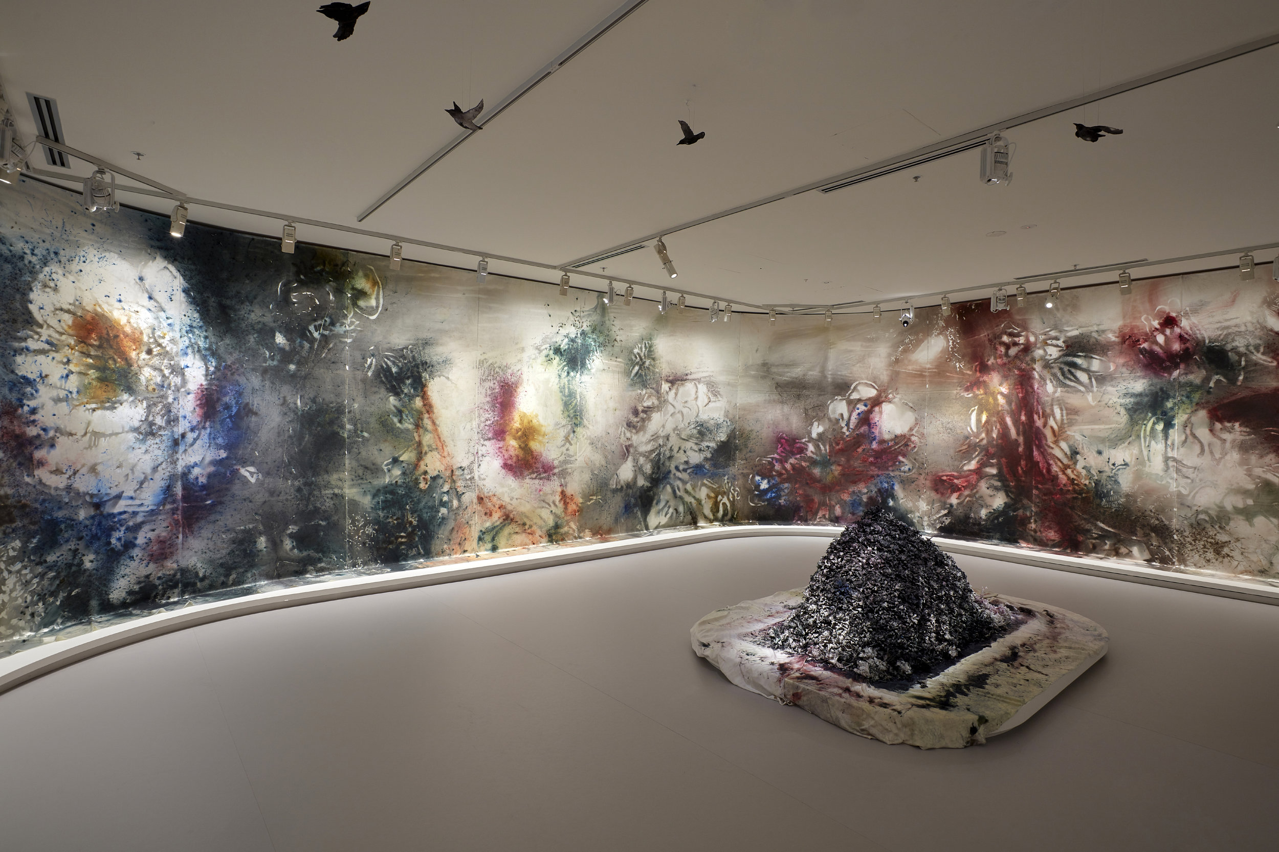 Cai Guo-Qiang: The Transient Landscape , exhibition installation view, NGV International, Melbourne, 2019; © Cai Guo-Qiang; photo: Sean Fennessy