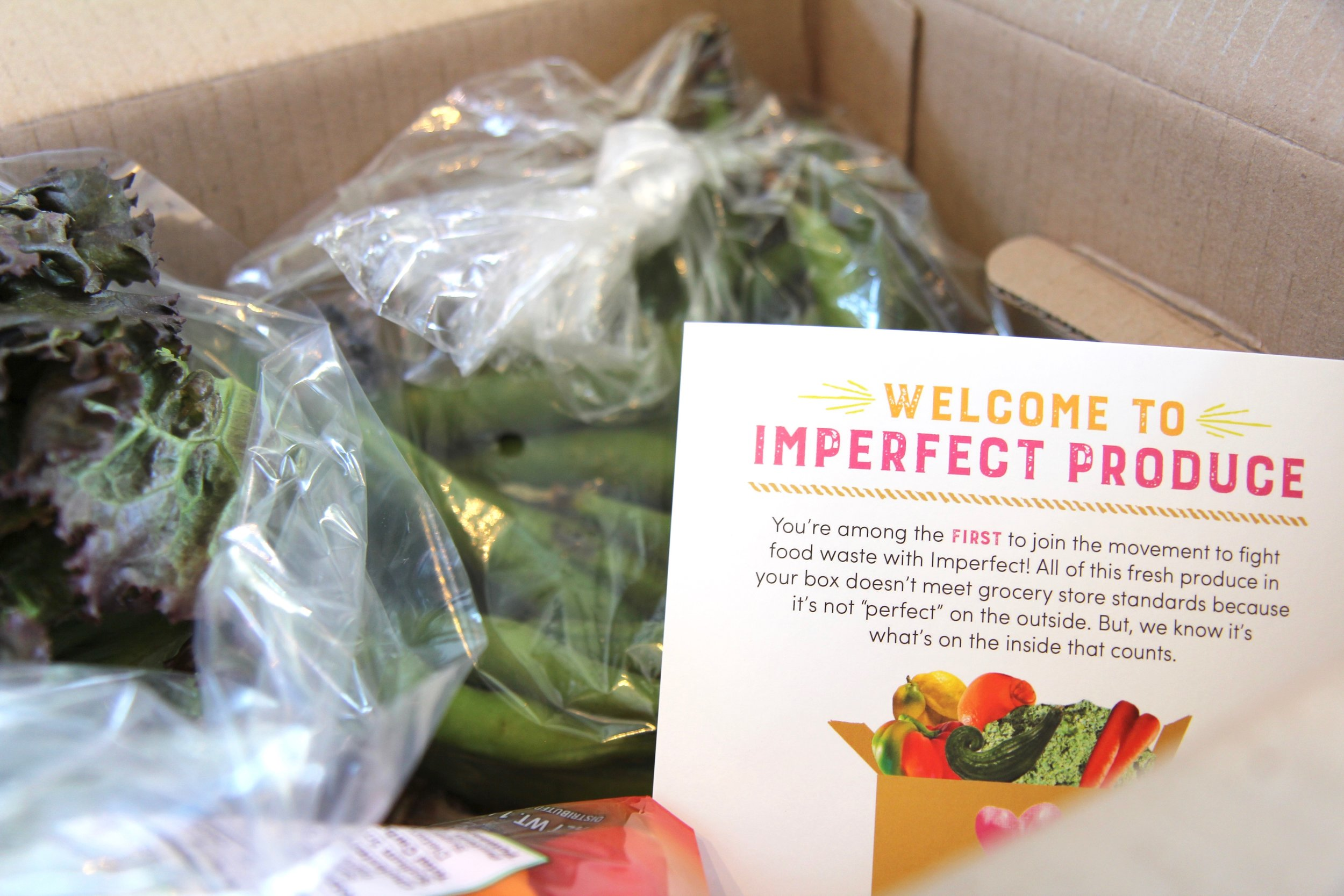 A recently delivered box of produce from Imperfect Produce.  (Photo Credit: Hermosa Journal)