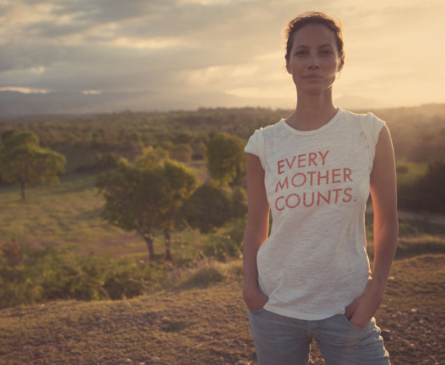 Photo Credit: EMC Founder, Christy Turlington Burns (Every Mother Counts)