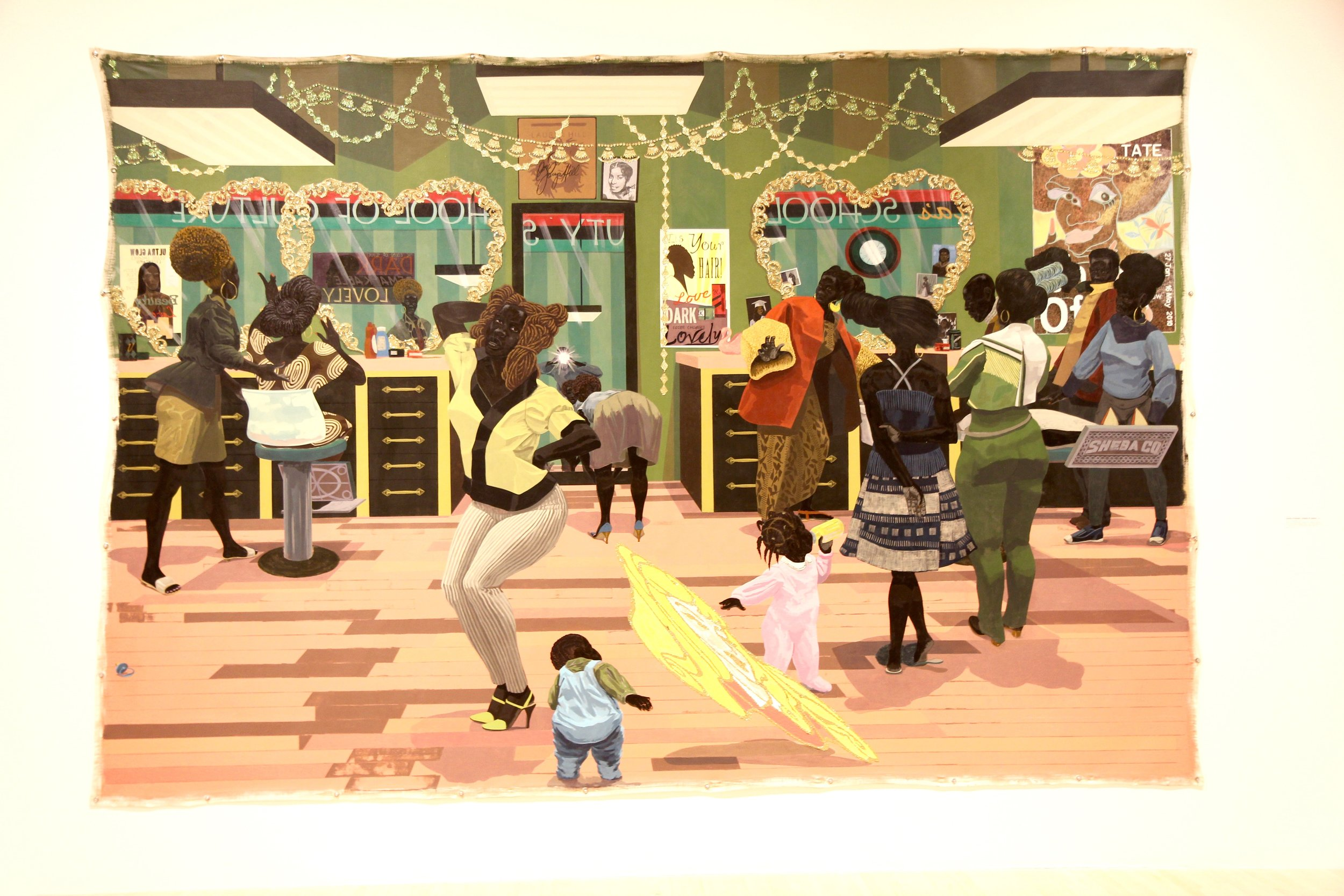 "Kerry James Marshall's ""School of Beauty, School of Culture"" (2012). Photo credit: Hermosa Journal"