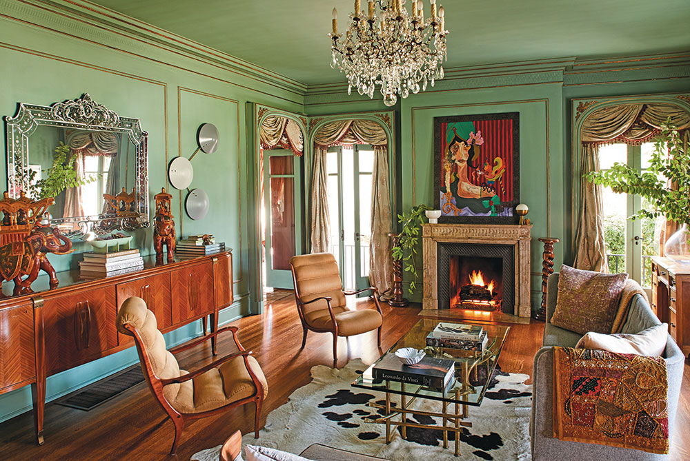 Love the mixture of patterns and ancestral elements in this room. Photo Credit: Sam Frost/C Magazine