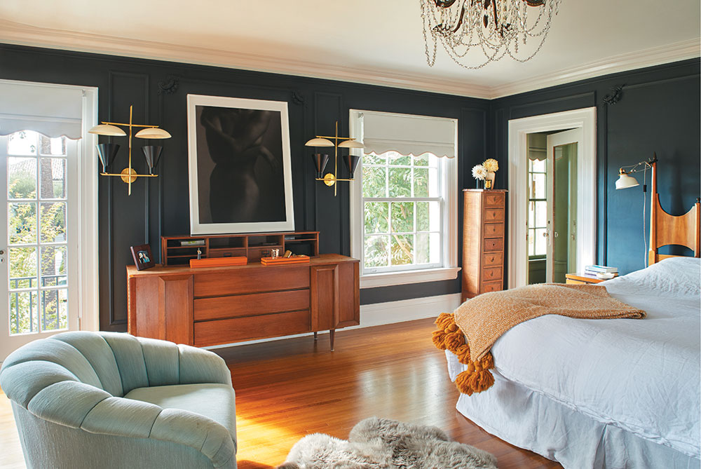 Nothing like a blue bedroom to make me smile! Photo Credit: Sam Frost/C Magazine