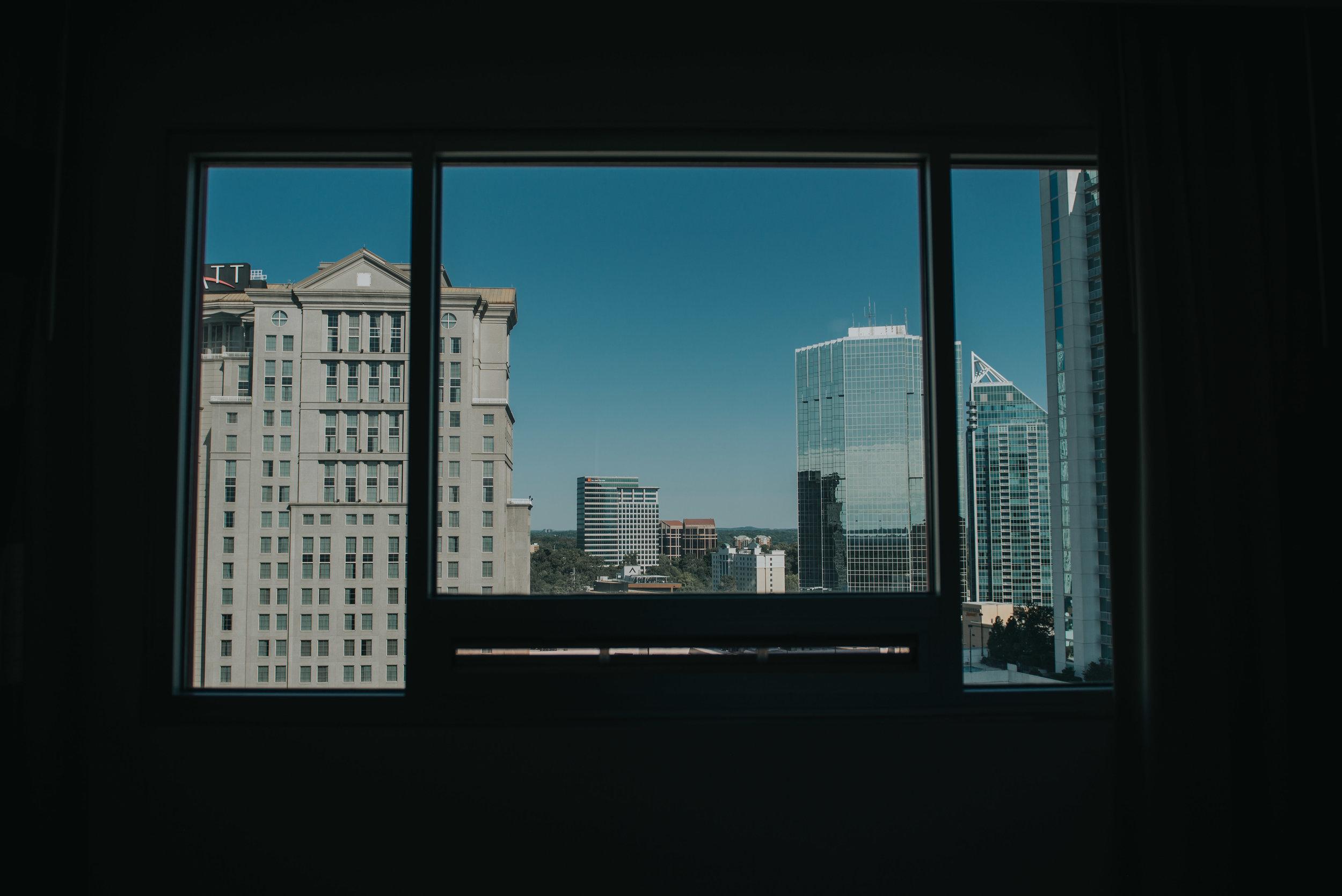 Atlanta Skyline from Embassy Suites Buckhead suite