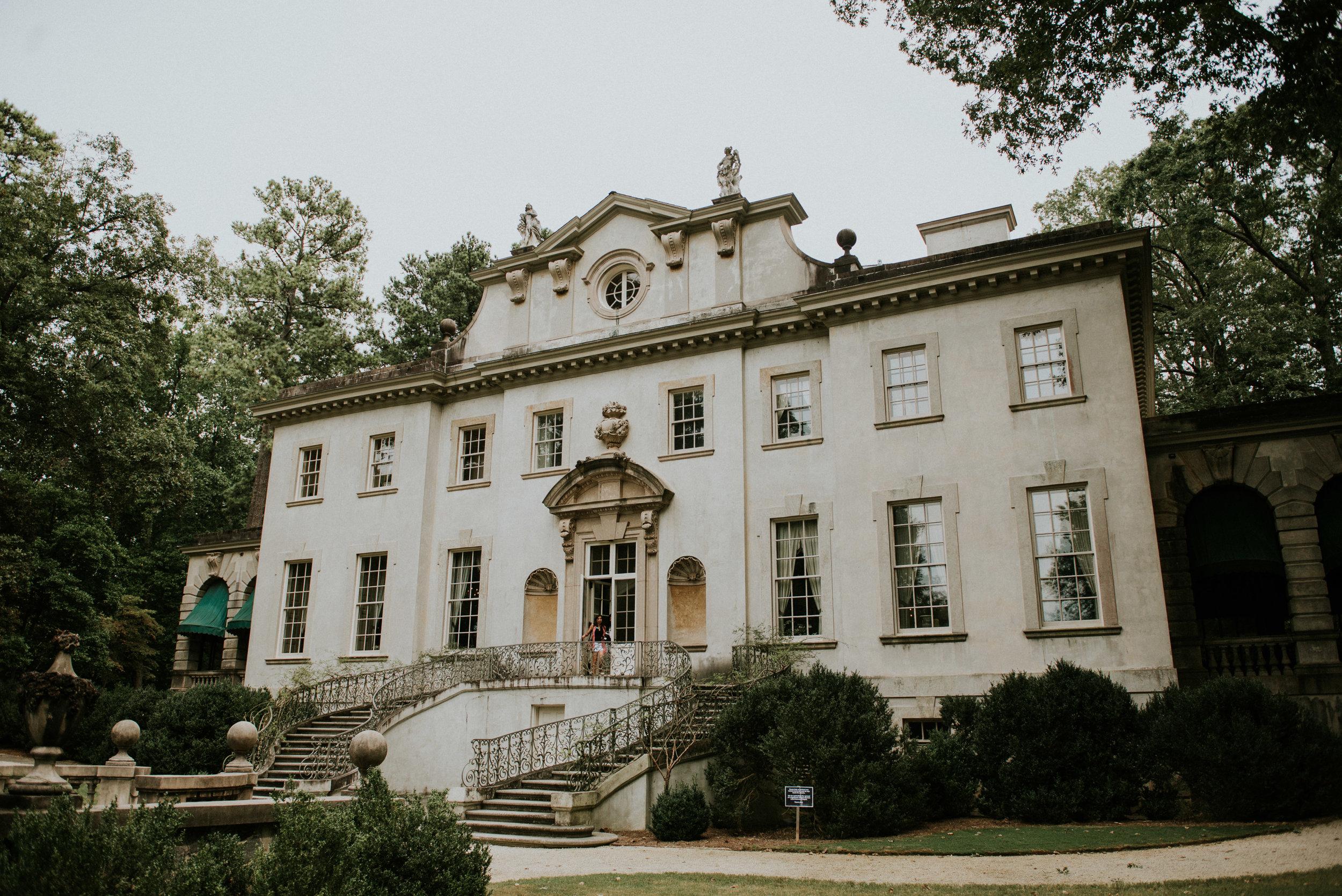 The historic Swan House in Atlanta, GA