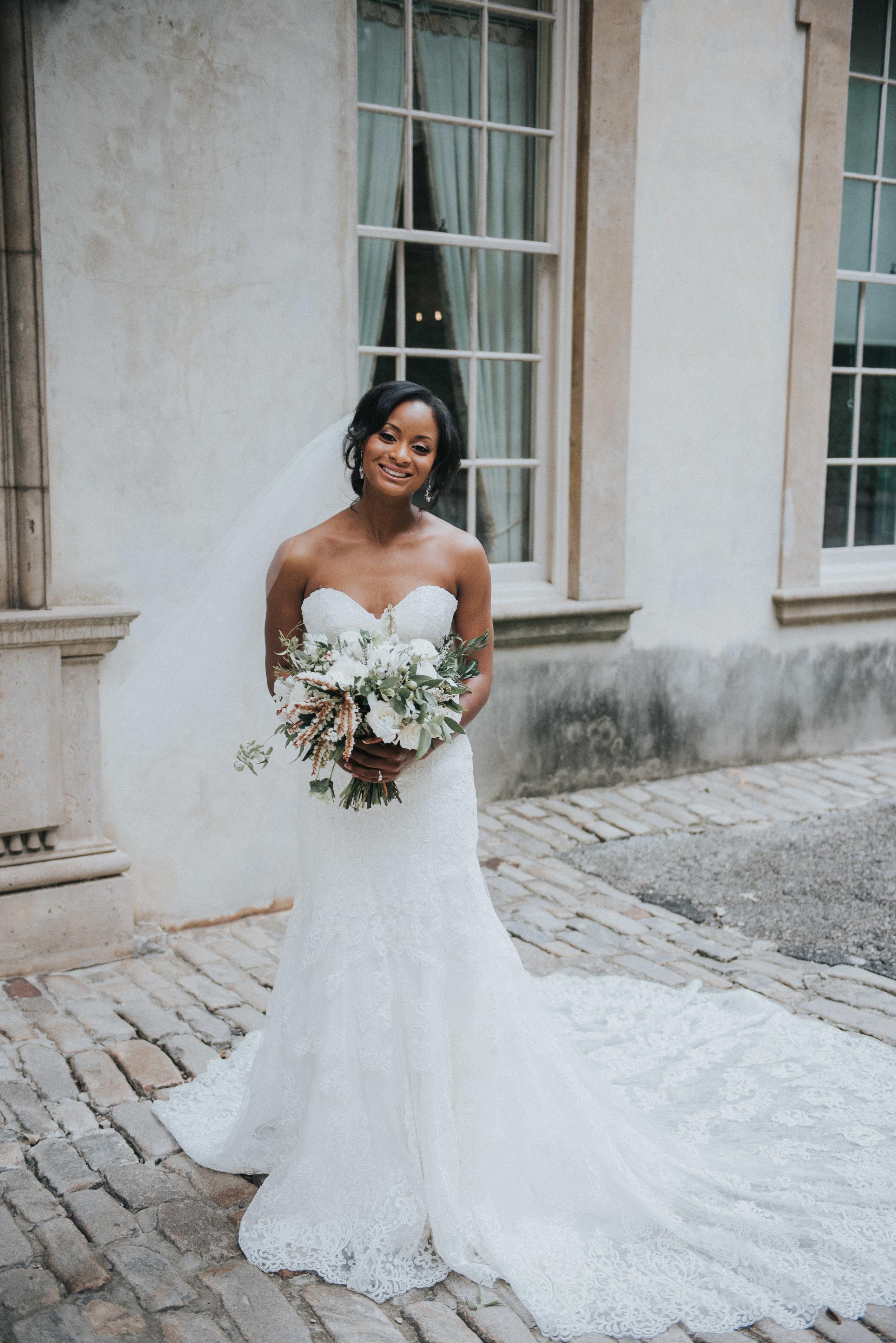 Bride in Martina Liana wedding gown