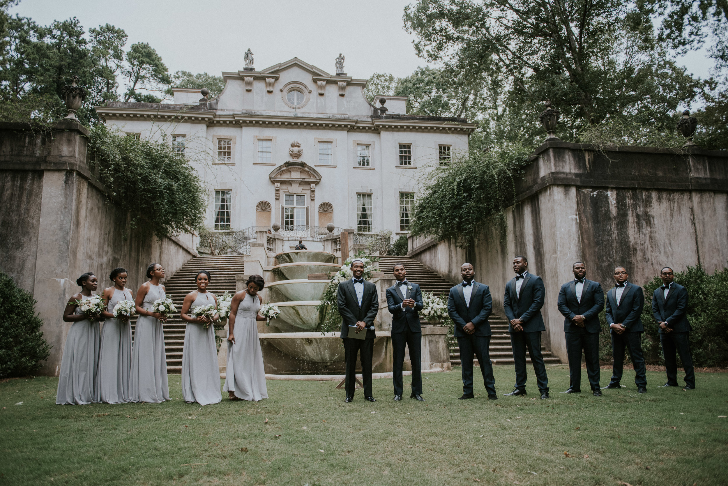 Wedding ceremony at Swan House in Atlanta, GA