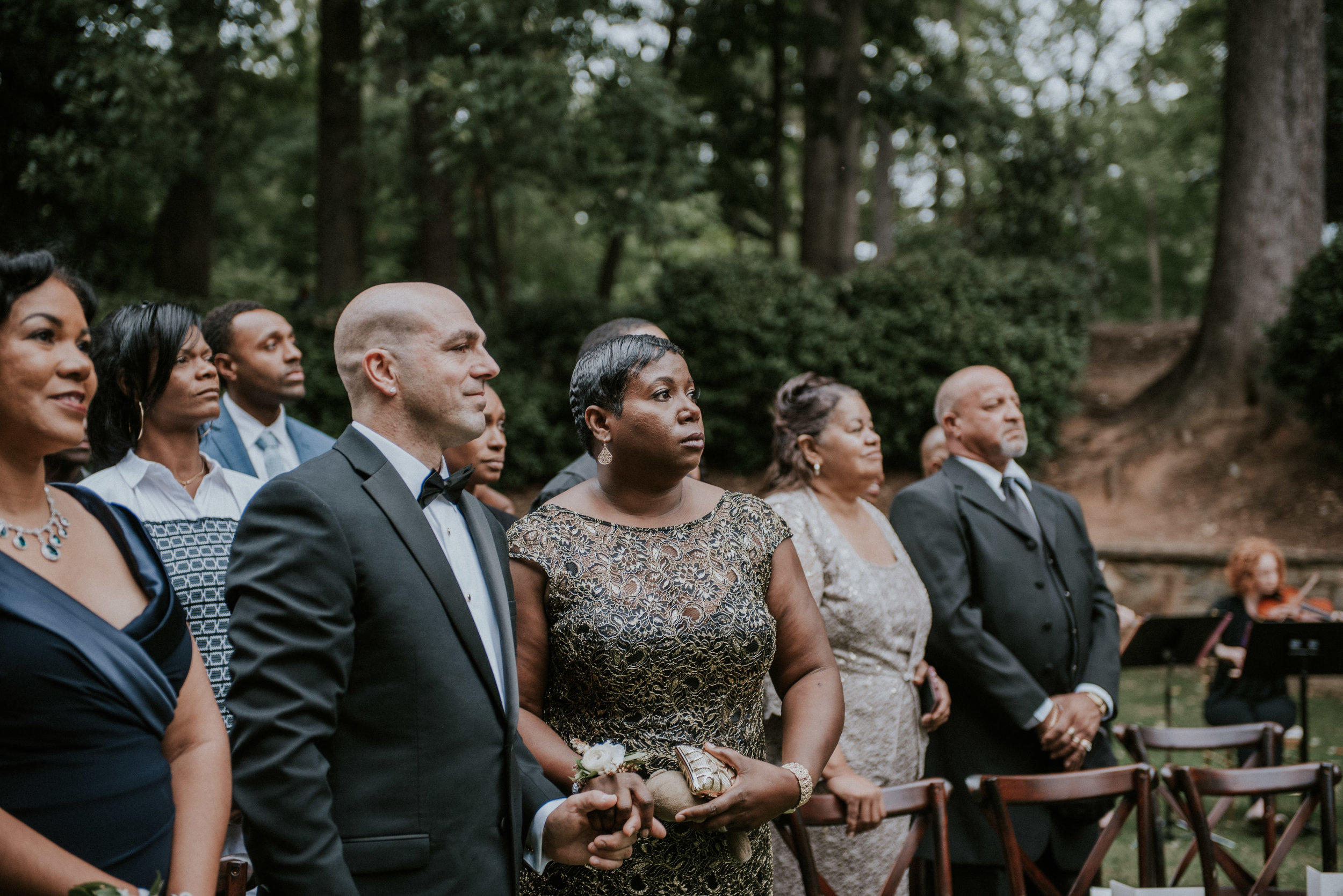 Guests' first reaction to bride's ceremony entrance