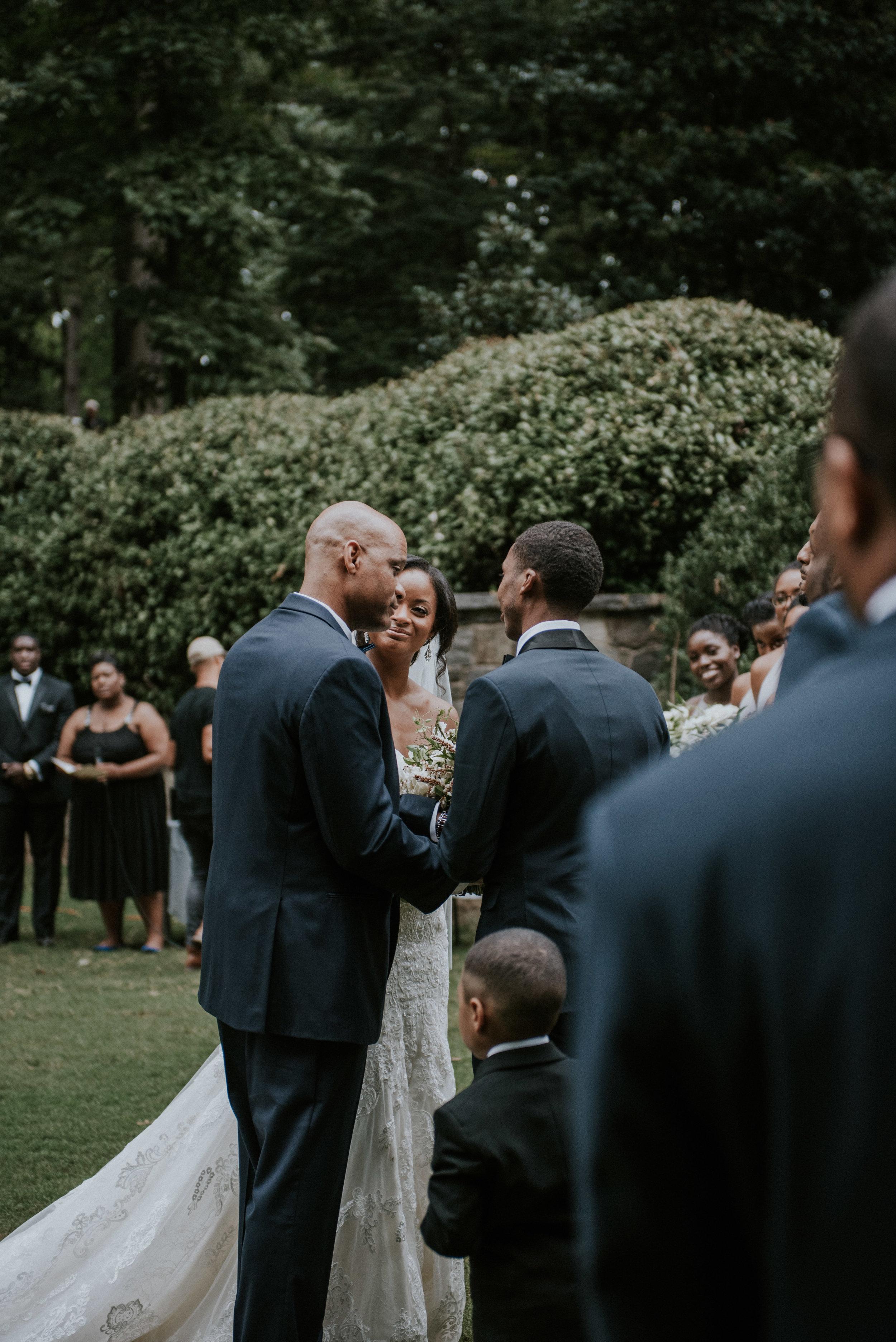 Swan House wedding ceremony