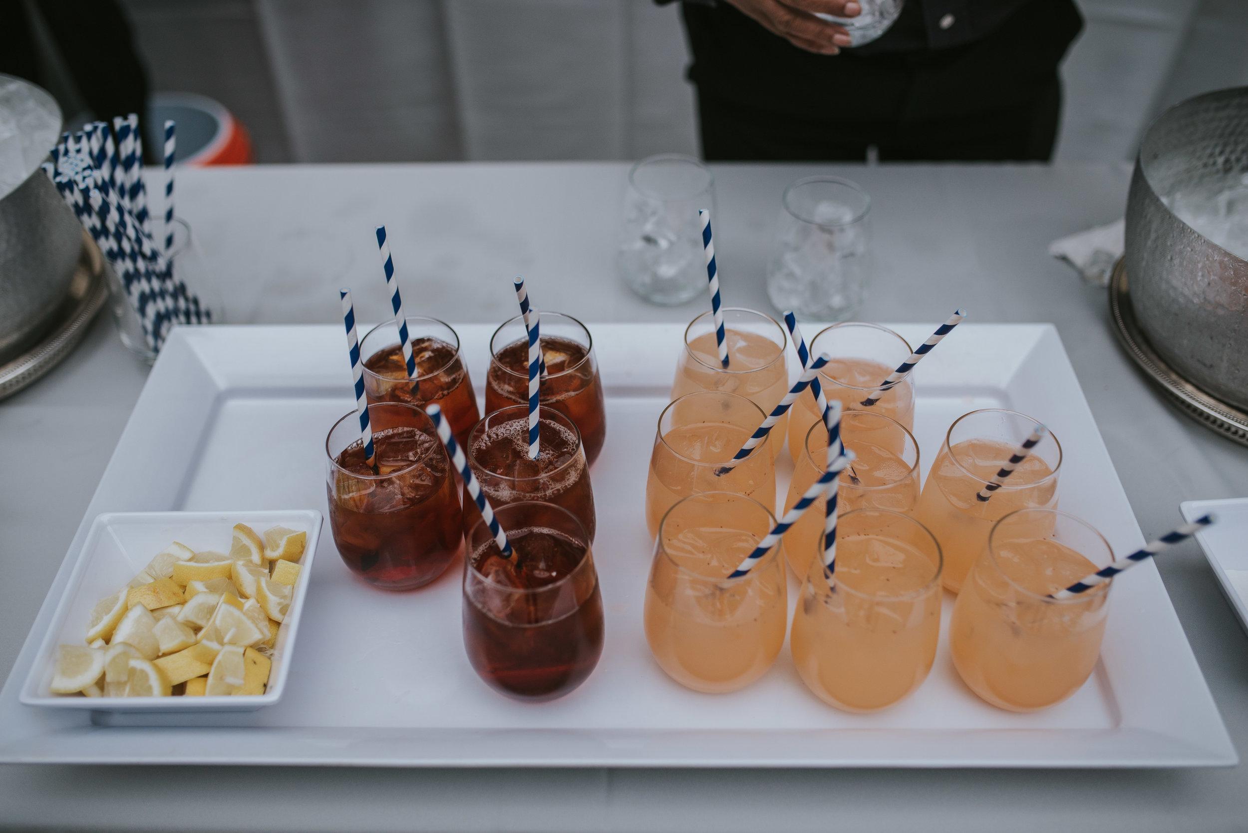 Cocktail hour refreshments at Atlanta History Center