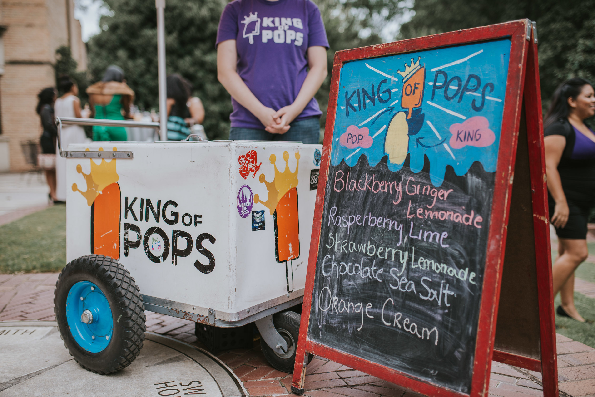 King of Pops popsicle cart at cocktail hour at Atlanta History Center