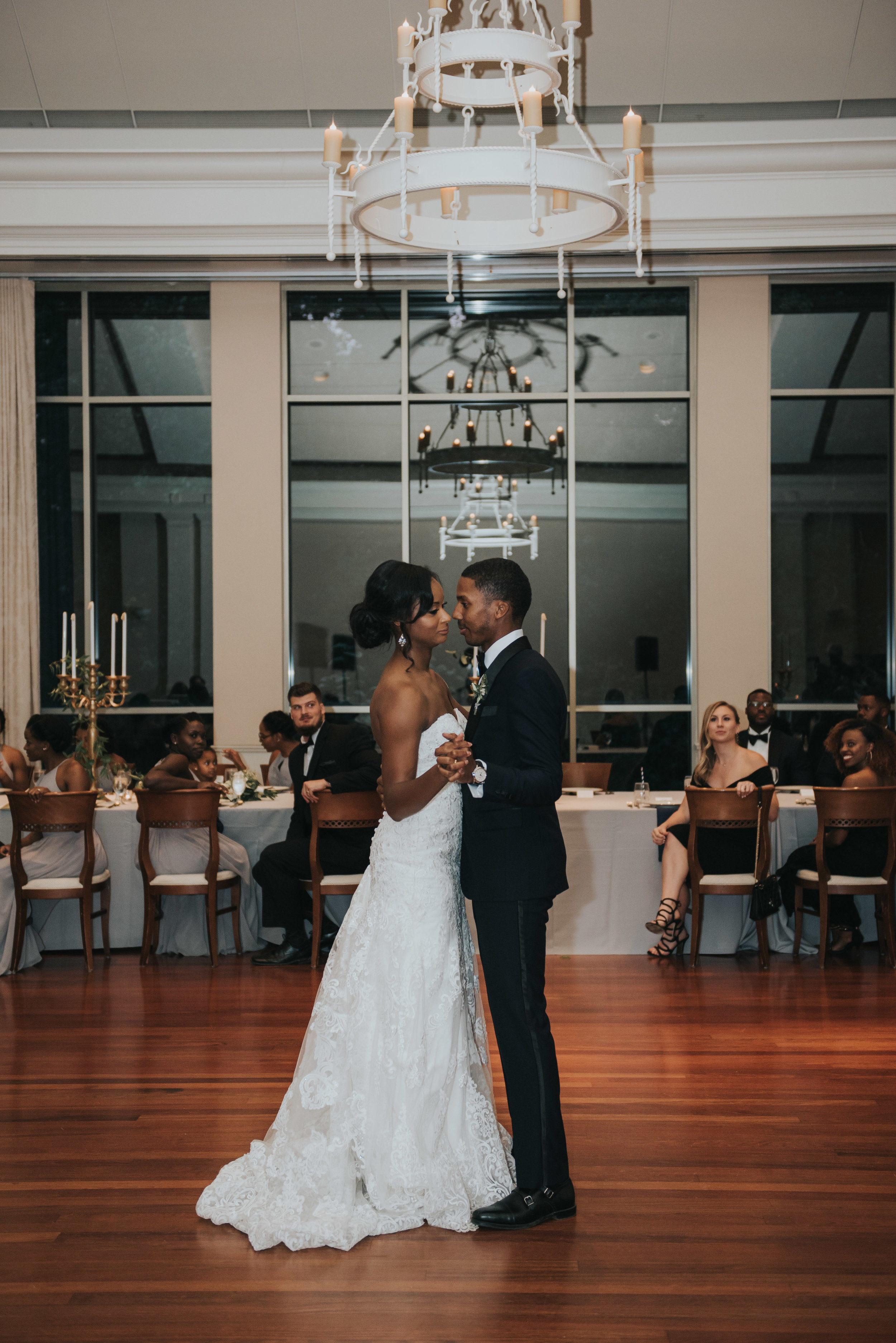 Bride and groom first dance at Atlanta History Center