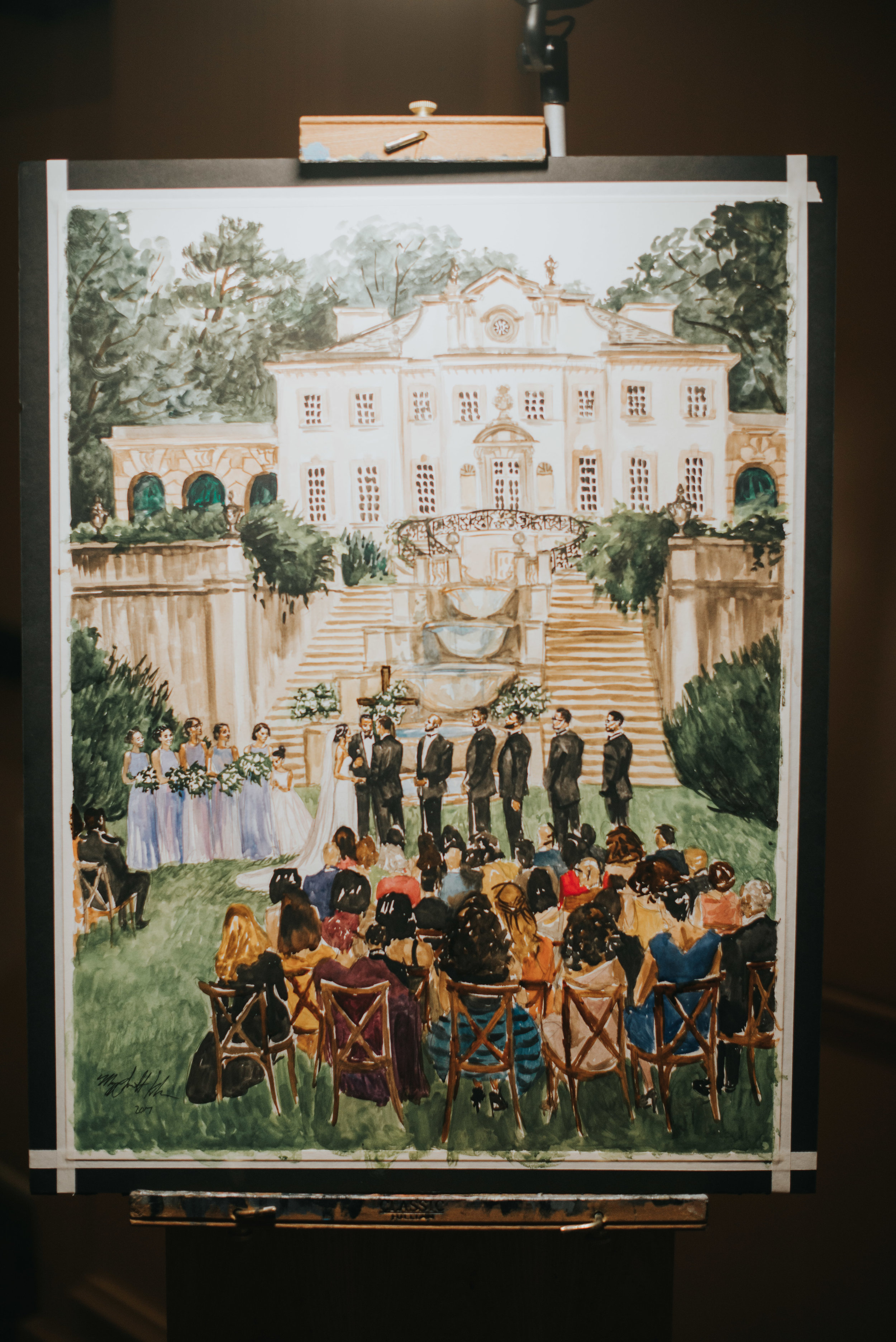 Completed wedding ceremony painting by Maggie Smith Kuhn fine art