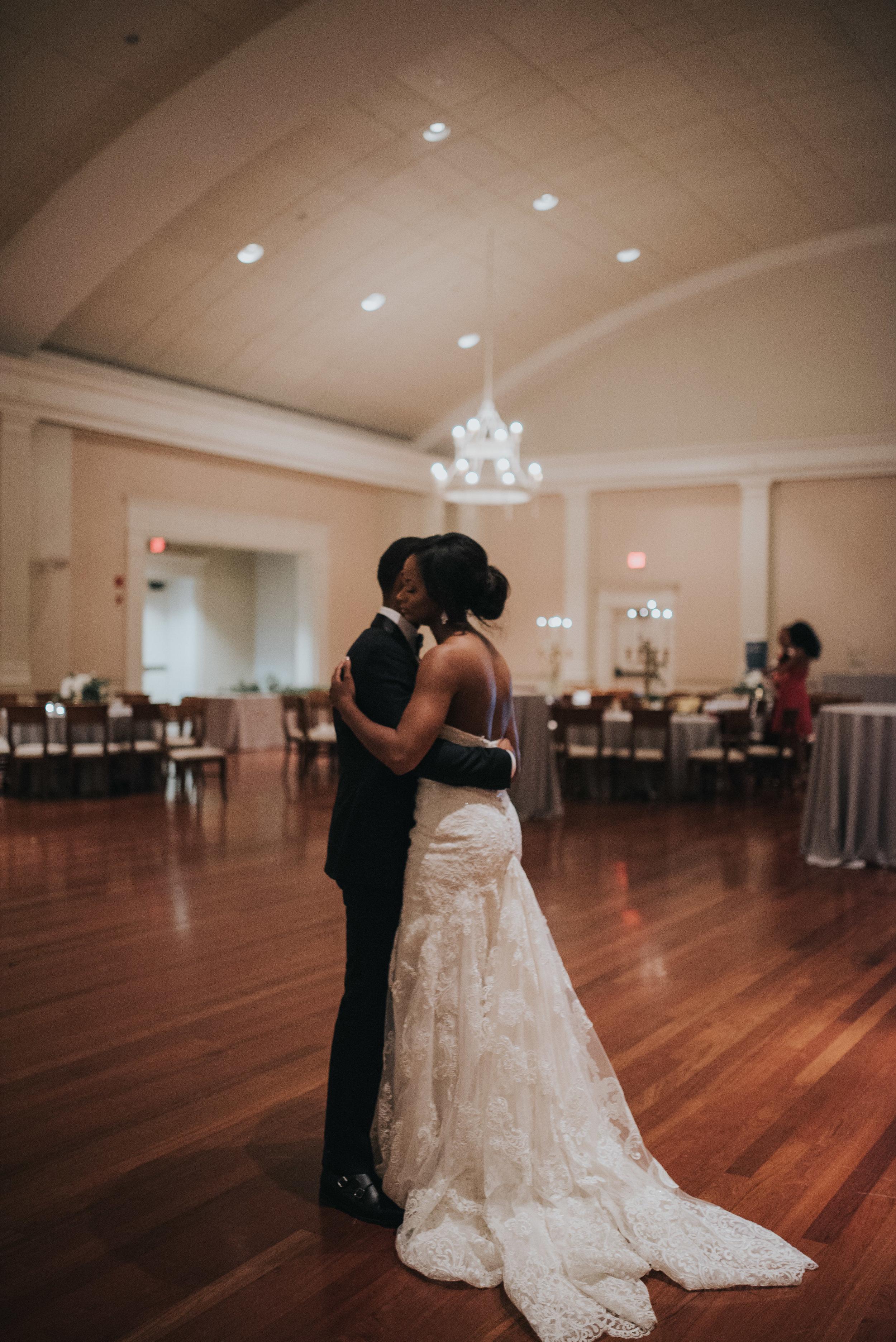Bride and groom last dance at Atlanta History Center wedding reception