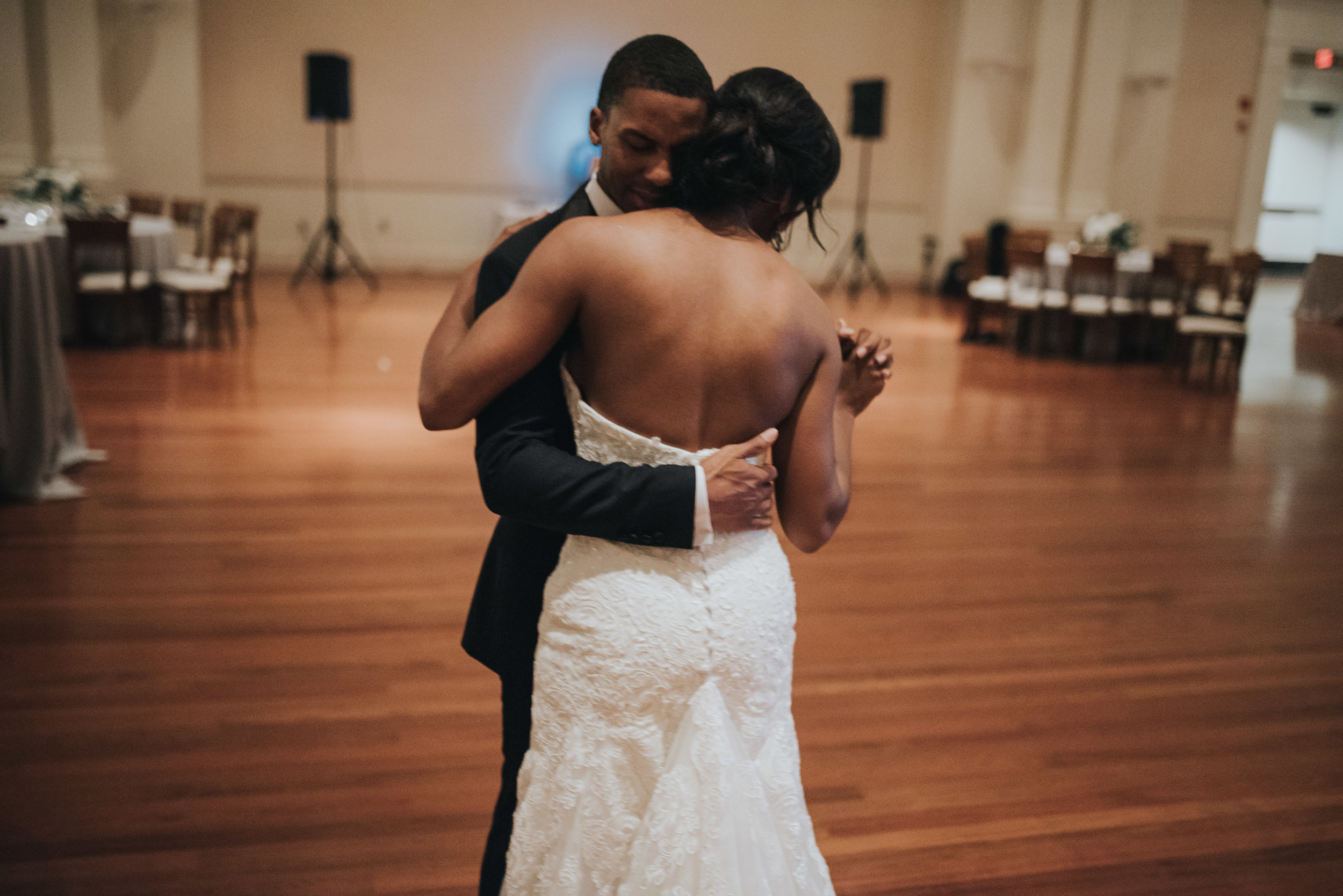 Bride and groom intimate dance at Atlanta History Center