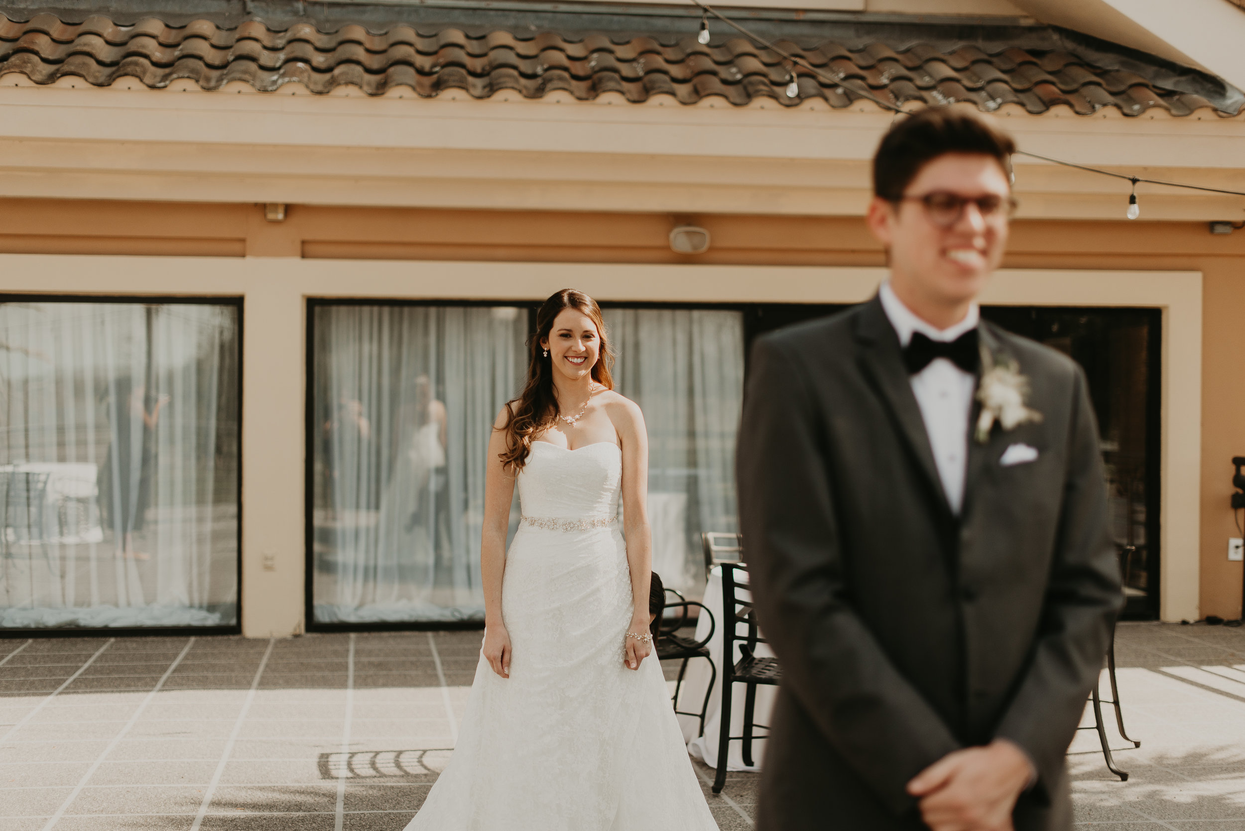 Groom anticipating bride for first look at MetroWest Golf Club