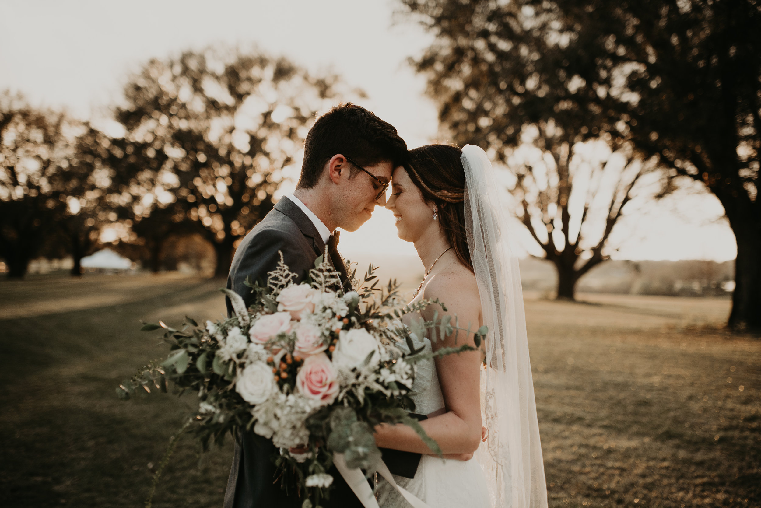 Bride and groom intimate during golden hour at MetroWest Golf Club in Orlando, FL