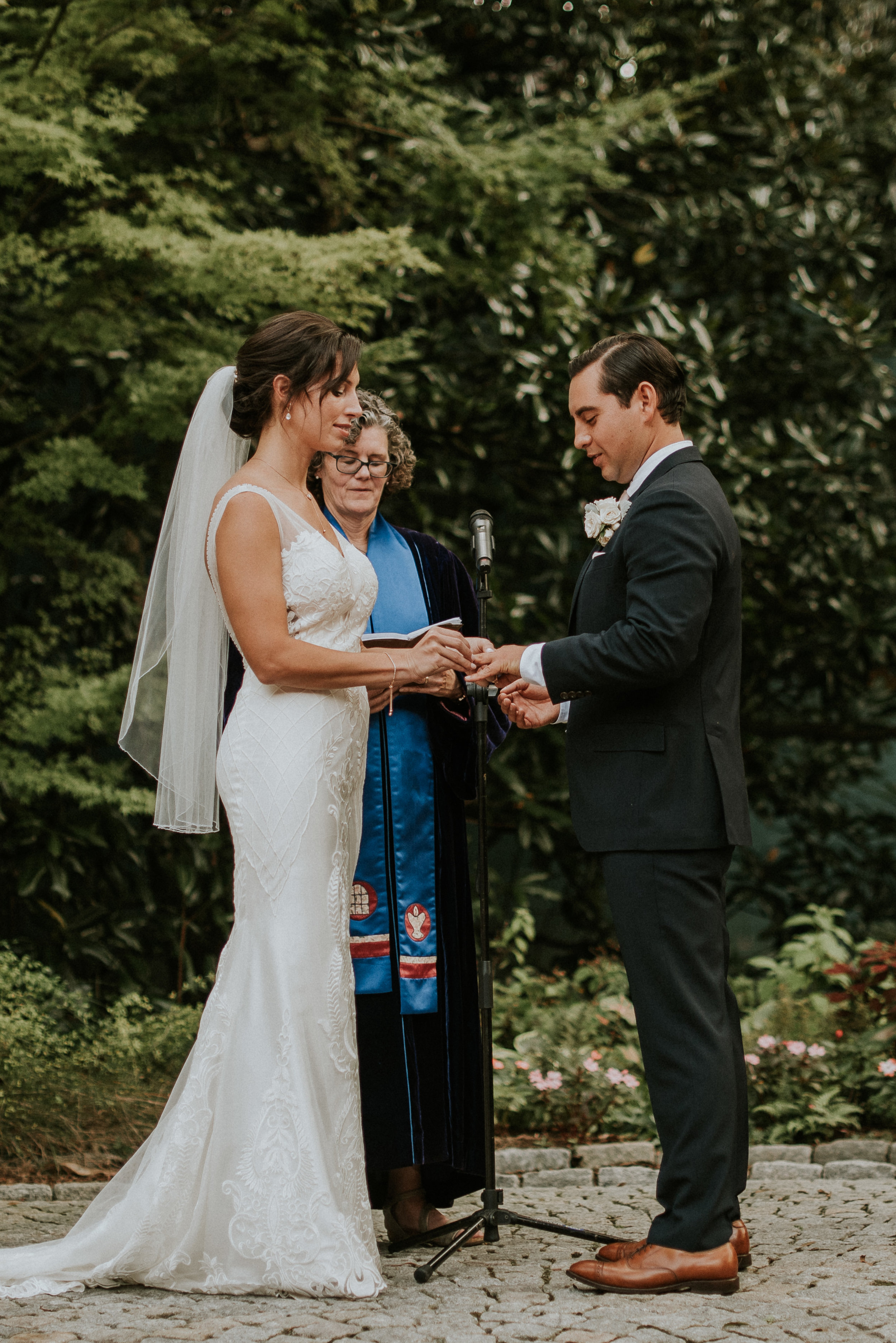 Wedding ceremony at The Trolley Barn in Atlanta, GA