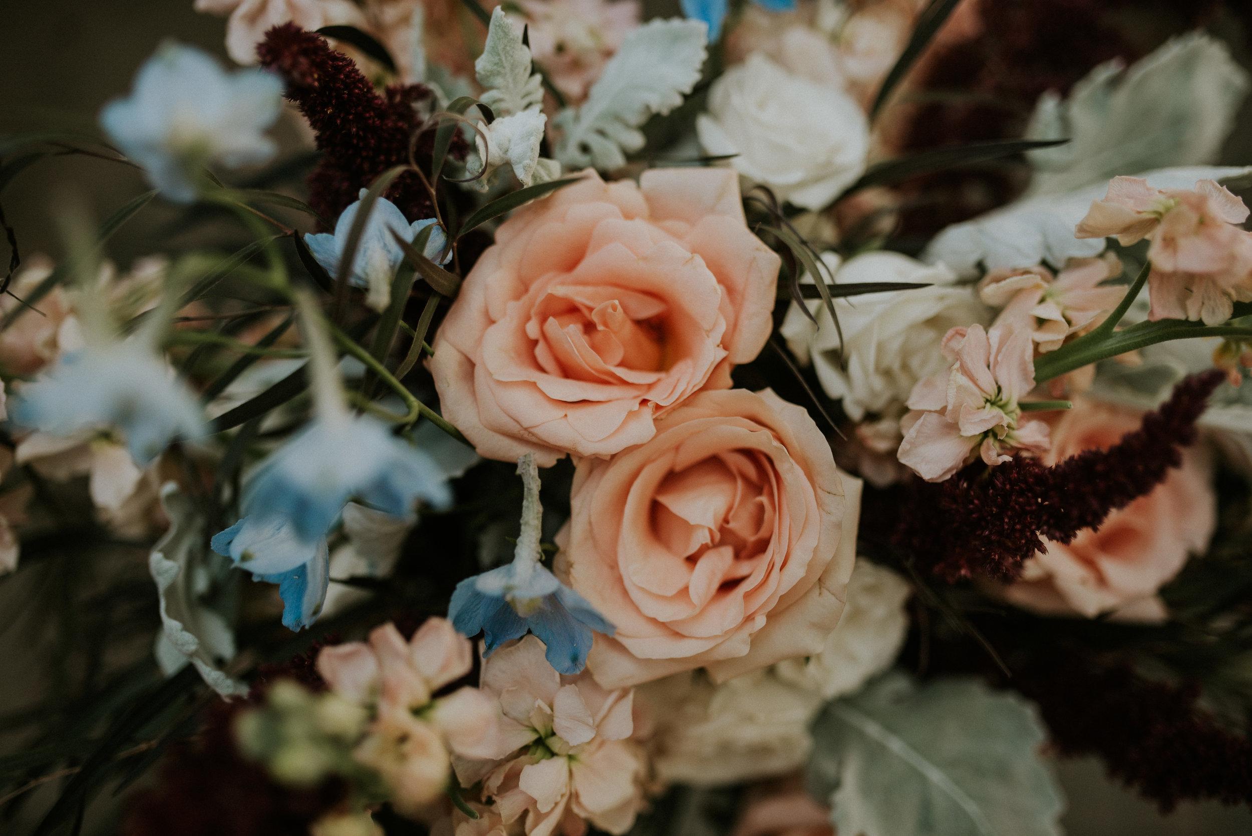Pastel colored flower bouqet