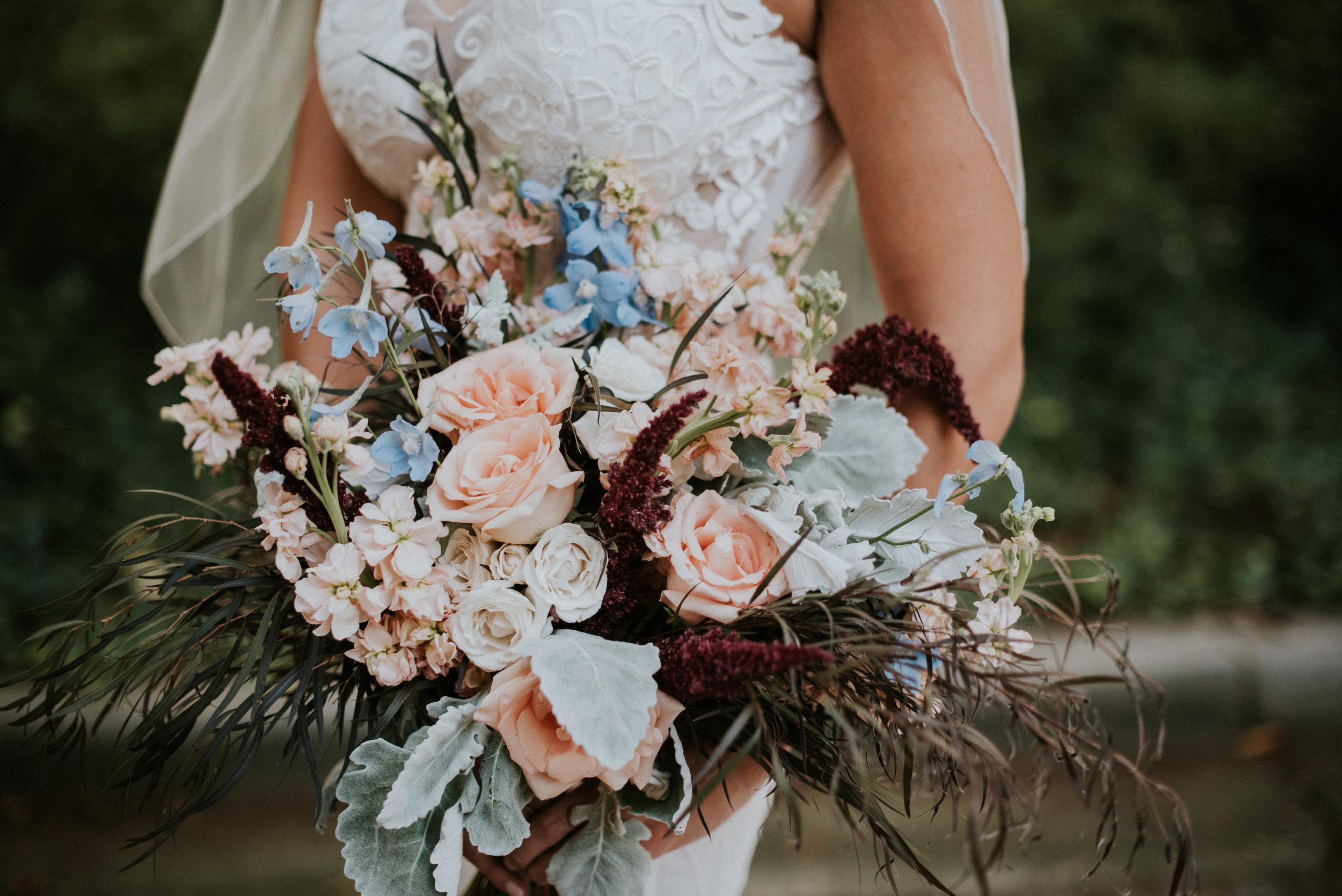 Bride's pastel colored bouquet