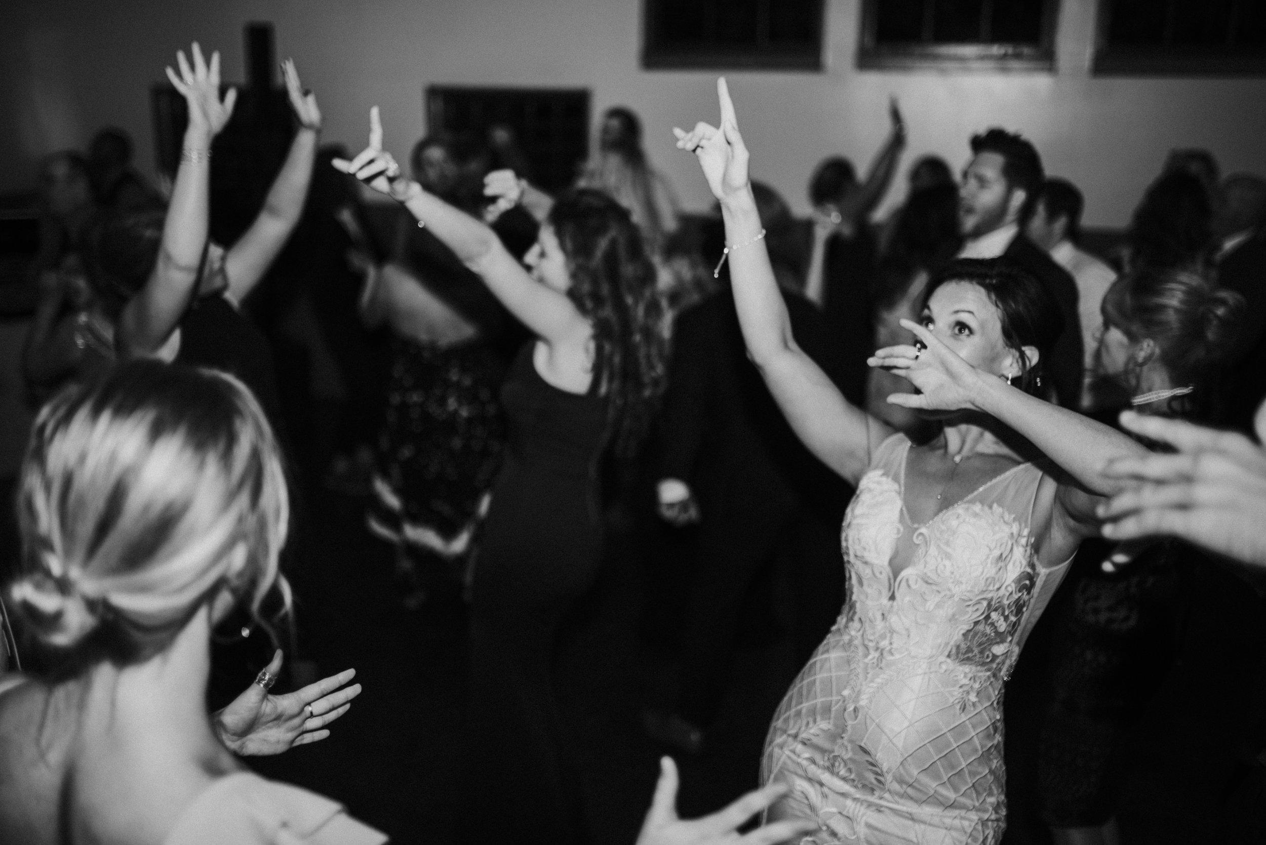 People dancing at wedding reception